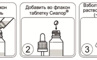 Сиалор для детей: инструкция по применению