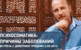 Дмитрий Троцкий о психосоматике